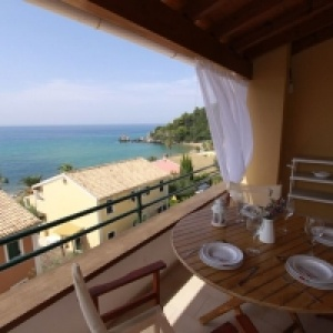 Glyfada Beach - Menigos Resort - Type A2R (nr.91): Seaview 2 Bedroom Coco Mat - One Level Apt.