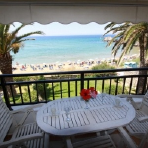 Glyfada Beach - Menigos Resort - Type AA5RBF PLUS: Beachfront 1 Bedroom Luxury COCO-MAT Apartment